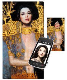 Mein Foto als Gemälde á la Gustav Klimt