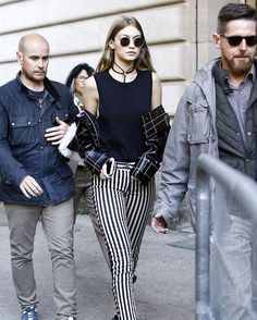 #mulpix During Paris Fashion Week.. @gigihadid wearing @elisabettafranchi 🌟  #GigiHadid  #ElisabettaFranchi  #pfw  #parisfashionweek  #paris  #topmodel  #model  #hadid  #ootd  #inspiration  #spotted  #fashion  #instafashion  #musthave  #gigi  #welovegigi  #streetstyle  #instagramdaily  #news