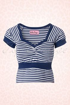"Bettie Page Clothing ""Ships Ahoy Top"""