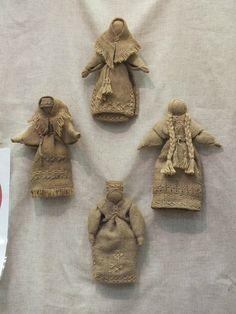 куклы из мешковины. Эти куклы замечательно! Так много личности. Не имея возможности на лицах напоминает амишей куклы. <3