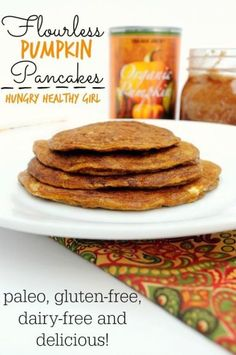These Flourless Pumpkin Pancakes are paleo, gluten-free and packed with big pumpkin flavor. The essence of cozy, cool Autumn mornings. Fall just got better!!!