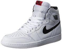 eeece936a3c0 Nike Jordan Mens Air Jordan 1 Retro High OG White Black White Basketball  Shoe