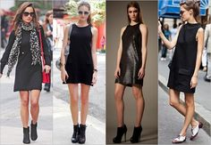 Little Black Shift Dresses – Street Fashion Style