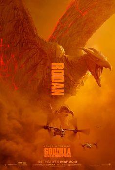 Godzilla King of the Monster Poster Rodan Movie 2019 Print Silk - Movies & TV - # King Kong, Godzilla Wallpaper, News Anime, M Anime, Marvel Movie Posters, Marvel Movies, Cult Movies, Rukia Bleach, All Godzilla Monsters
