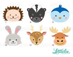 Woodland head clipart forrest head clipart 16072
