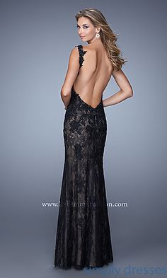 Long Open Back La Femme Gown at SimplyDresses.com
