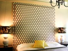 15 Easy DIY Headboards >> http://www.diynetwork.com/decorating/15-easy-to-make-diy-headboard-projects/pictures/index.html?soc=pinterest