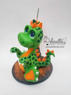 Die Dinos Baby, Cold Porcelain, Yoshi, Biscuits, Baby Cakes, Product Ideas, Candles, Cold, Dinosaurs