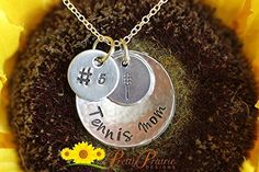 Tennis Mom Necklace - Hand Stamped Tennis Mom Gift - Biggest Tennis Fan - Tennis Jewelry - Mother's Day or Team Mom Gift - Handstamped Handmade Necklace -- To view further for this item, visit the image link.