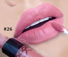 1pc Matte lipstick Smudge Free Lip Gloss Water Proof Long Lasting Lips Makeup Color 26 *** Find out more about the great product at the image link.