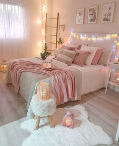 Best 27 Room Decor Bedroom Design Ideas For Your Inspiration Bedroom Decor For Teen Girls, Cute Bedroom Ideas, Girl Bedroom Designs, Room Ideas Bedroom, Home Decor Bedroom, Bedroom Inspo, Bedroom Inspiration, Diy Bedroom, Teen Bedrooms