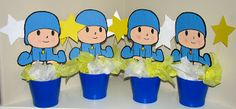 Utopia Party Decor: Pocoyo Party Decor / Fiesta Pocoyo Baby Party, Party Themes, Party Ideas, Smurfs, Birthday Parties, Baby Shower, Party, Mars, Party Stuff