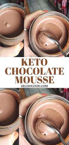KETO CHOCOLATE MOUSSE #chocolate #mousse #keto #ketogenic #lowcarb #low_carb