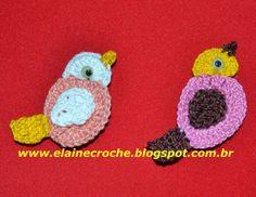 Elaine Croche: Pássaro Aplique em Crochê - Vídeo Aula Crochê