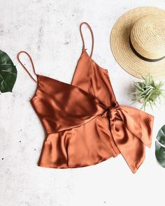 jordyn wrap satin crop top in copper - shophearts Grunge Look, 90s Grunge, Grunge Style, Soft Grunge, Sewing Clothes, Diy Clothes, Clothes For Women, Diy Fashion, Ideias Fashion