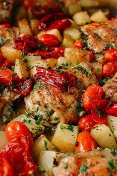 Mediterranean Chicken Thighs recipe, by thewoksoflife.com