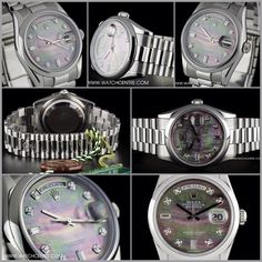 Rolex Platinum O/P Diamond Black MOP Dial Day-Date B&P 118206  http://www.watchcentre.com/product/rolex-platinum-o-p-diamond-black-mop-dial-day-date-bp-118206/7301  #Rolex #Platinum #Diamond #MOP #Day-Date #Gents #Wristwatch #Luxury #Timepiece