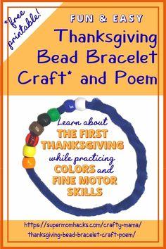 Thanksgiving Bead Bracelet Craft & Poem (Free Printable!) - Super Mom Hacks