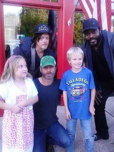 Andrew Lincoln | Norman Reedus (Daryl), Andrew Lincoln, (Rick) e Chad L. Coleman ...