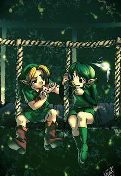 Zelda OOT - Link and Saria