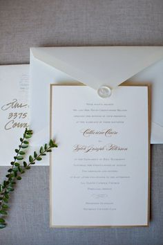 elegant and classic gold and white invitations: Bridal Bliss Wedding