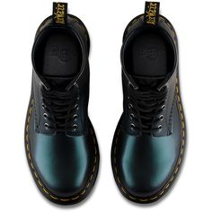 Dr. Martens 1460 Tracer ($75) ❤ liked on Polyvore featuring shoes, boots, обувь, leather shoes, dr martens footwear, metallic boots, real leather boots and dr. martens