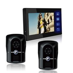 7 inch LCD Color Video door phone Intercom System HD Camera Home Security beautiful and luxurious style.