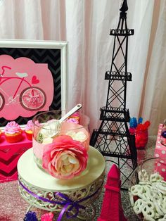 Paris Sweet 16 birthday party decor! See more party planning ideas at CatchMyParty.com!