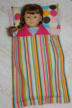 Made two of the sleeping bags today.  Very very easy & my gdaughter was able to sew most of it herself.  American Girl Doll.