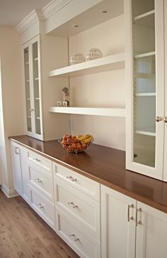Dining Room Office, Desk In Living Room, Dining Room Buffet, Dining Room Walls, Dining Room Design, Dining Hutch, Desk Hutch, Kitchen Dining, Living Room Built In Cabinets