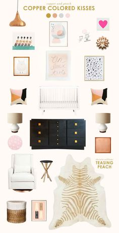 copper baby room ideas