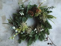 Rustic Christmas wreath with eucalyptus