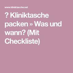 ᐅ Kliniktasche packen » Was und wann? (Mit Checkliste)