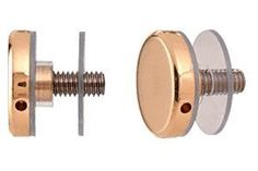 """CRL Brass Standoff Cap Assemblies for 1-1/4"""" Standoff Bases by C.R. Laurence. $7.85. Choice of Several Matching Finishes CRL 1-1/4 Inch Standoff Cap Assemblies are used in conjunction with the CRL 1-1/4 Inch Standoff Bases to create displays, furniture or signage. Available in brushed stainless and polished stainless finishes, they can be used indoors or outdoors. Glass fabrication requires 5/8 inch (15.8 millimeter) diameter hole for installation. There is also a CR..."""