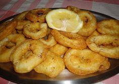 Calamares a la romana.                                                                                                                                                                                 Más  http://recipesheaven.com/paleo