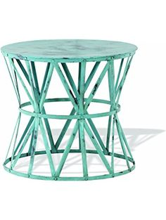 Foreside Home & Garden Paxton Accent Table, Seafoam ❤ Foreside Home & Garden - Furniture