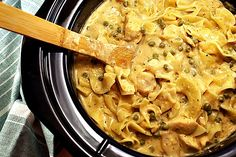 Creamy Cheddar Ranch Chicken in the crockpot