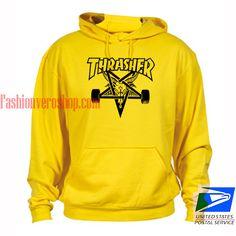 3b479b1daf27 Thrasher logo Skateboards Yellow hoodie
