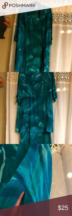 AVENUE 2PC JACKET AND DRESS PLUS SIZE GREEN 18/20 Excellent condition 100%Rayon Avenue Dresses Maxi