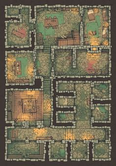 A hand-drawn Dungeon Jail battle map, a prison beneath the city complete with cells, guard quarters, and torture room. Printable and digital files inside. Dungeons And Dragons Homebrew, D&d Dungeons And Dragons, Dungeons And Dragons Adventures, Maps Design, Fantasy Map Making, Dnd World Map, Pathfinder Maps, Building Map, Rpg Map