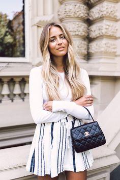 H&M shirt/ Ganni skirt/ Chanel bag/ Isabel Marant shoes | Janni Delér