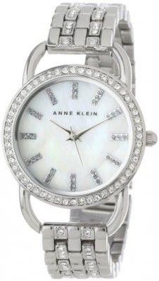 299db20768d Relógio Anne Klein Women s AK 1263MPSV Swarovski Crystal Accented  Silver-Tone Mother-Of