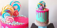 Katherine Sabbath's Tips for Making Neon Drip Cakes - Fun Cake Decorating Ideas