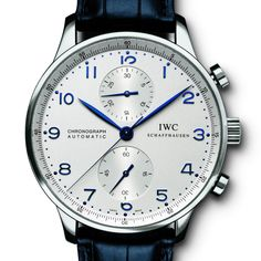 Buy IWC Portuguese Chronograph Stainless Steel Watches, authentic at discount prices. All current IWC styles available. Dream Watches, Luxury Watches, Cool Watches, Watches For Men, Stylish Watches, Patek Philippe, Iwc Watches, Wrist Watches, Herren Chronograph