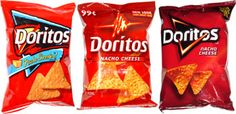 Frito-Lay has given their Doritos bags a new design for the first time since Tortilla Chip Brands, Tortilla Chips, Cheese Puffs, Nacho Cheese, Doritos, Frito Lay, Chip Bags, Happy 4 Of July, Food Reviews
