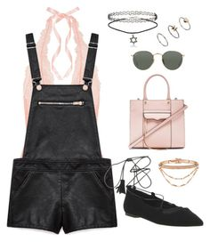 """""""Untitled #1640"""" by susannem ❤ liked on Polyvore featuring L'Agent By Agent Provocateur, Forever 21, Rebecca Minkoff, Ray-Ban, Eddie Borgo, Topshop and Office"""