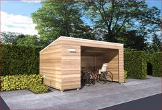 Want to know about how to build a sheds? Then this is without doubt the right place! Bike Storage Modern, Bicycle Storage Shed, Outdoor Bike Storage, Garden Storage Shed, Bike Shed, Fence Design, Garden Design, Bike Shelter, Diy Carport