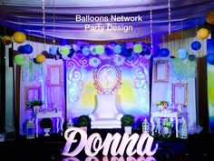 Debut Decorations, Debut Party, Balloons, Neon Signs, Outdoor Decor, Diy, Image, Design, Globes