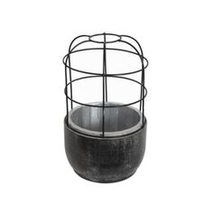 Black powder coated wire frame Wood base comes lined ready to plant! Wire Frame, Terrarium, Cage, Planters, Wood, Dining, Bathroom, Terrariums, Washroom