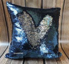 """These fabulous and fun sequins mermaid pillow covers are awesome for any room! Each front of the pillow covers is made of a sequins fabric material. With the swoosh of a hand you can flip the sequins and """"draw"""" cool designs into your pillow cover. The sequins are colored with different colors on each side. Flip them for fun and then flip them back."""